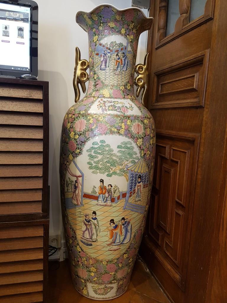 grand vase chinois xx me jean fran ois langohr. Black Bedroom Furniture Sets. Home Design Ideas